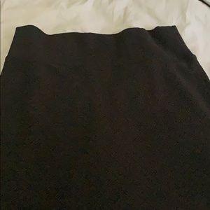 Black LulaRoe Cassie Pencil Skirt XXL